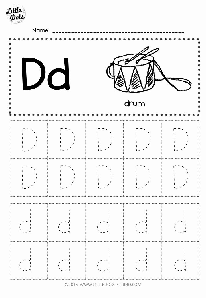 Letter D Tracing Worksheets for Preschoolers Lovely Free Letter D Tracing Worksheets