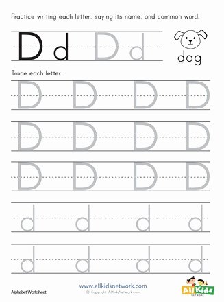 Letter D Tracing Worksheets for Preschoolers Lovely Letter D Tracing Worksheet