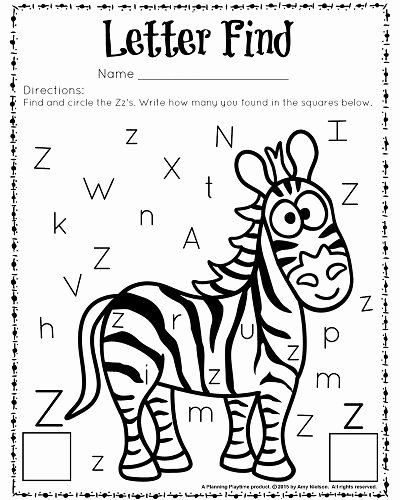 Letter Find Worksheets for Preschoolers Awesome Cute Letter Find Worksheets with A Freebie