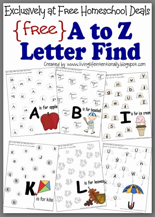 Letter Find Worksheets for Preschoolers Best Of Free Instant Download Plete A to Z Letter Find Worksheet
