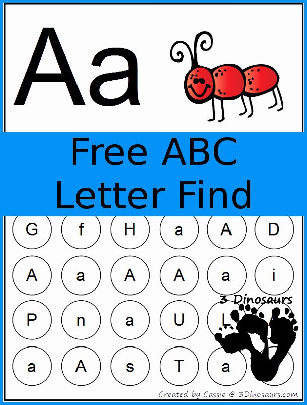 Letter Find Worksheets for Preschoolers Fresh Abc Letter Find Printable for the whole Alphabet Free