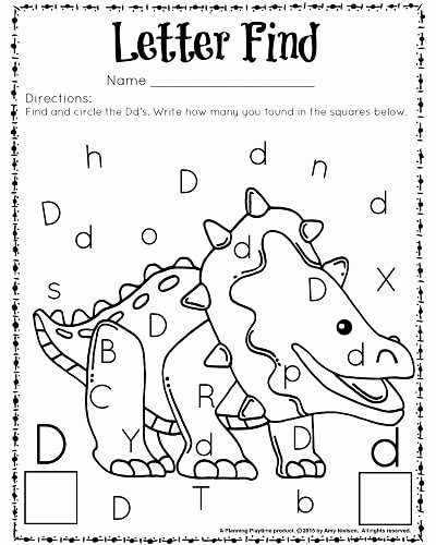 Letter Find Worksheets for Preschoolers Fresh Cute Letter Find Worksheets with A Freebie Planning Playtime