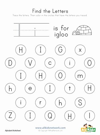 Letter Find Worksheets for Preschoolers Fresh Find the Letter I Worksheet