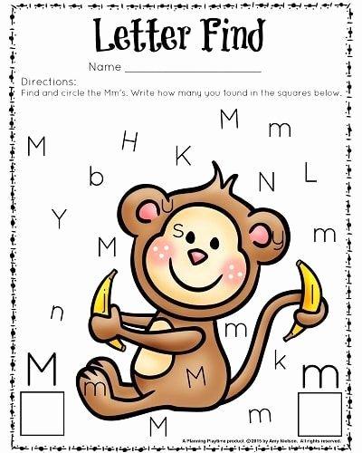 Letter Find Worksheets for Preschoolers Inspirational Cute Letter Find Worksheets with A Freebie