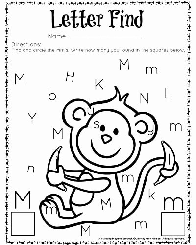 Letter Find Worksheets for Preschoolers Inspirational Cute Letter Find Worksheets with A Freebie Planning Playtime