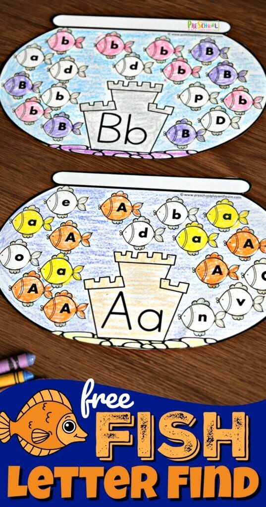 Letter Find Worksheets for Preschoolers top Free Alphabet Fish Printable