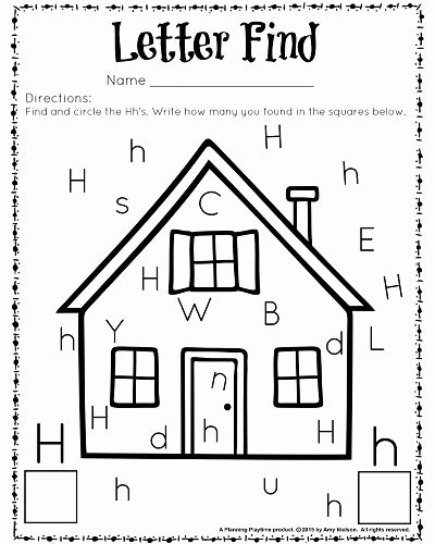 Letter Find Worksheets for Preschoolers Unique Cute Letter Find Worksheets with A Freebie Planning