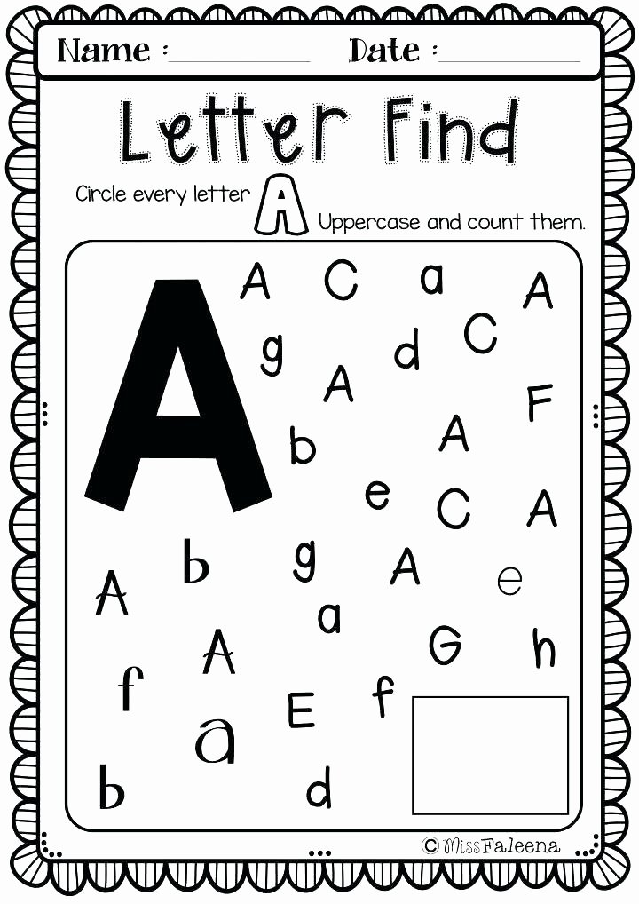 Letter Find Worksheets for Preschoolers Unique Worksheet Preker Worksheets Printable J Tracing for