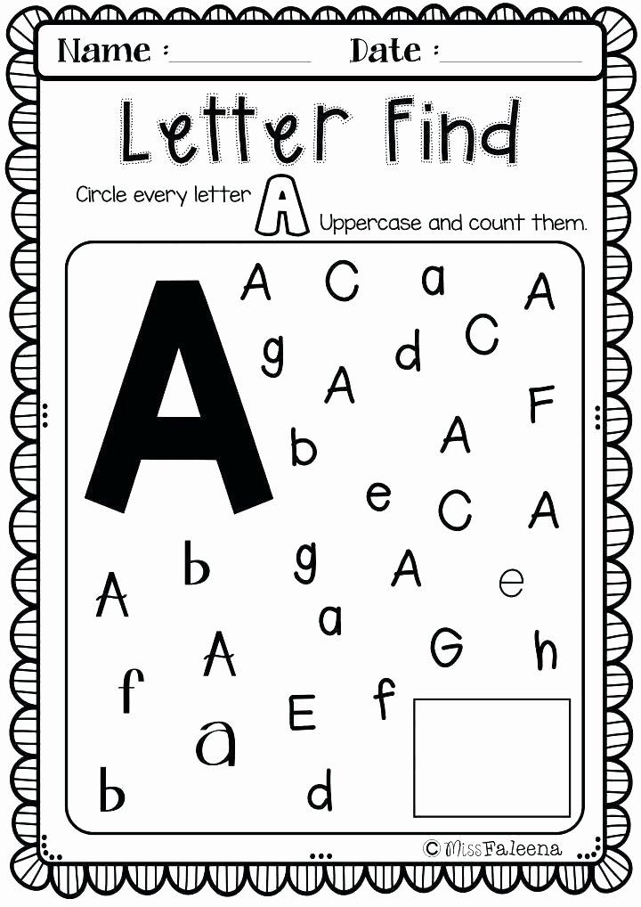 Letter Find Worksheets for Preschoolers Unique Worksheet Preker Worksheets Printable J Tracing for