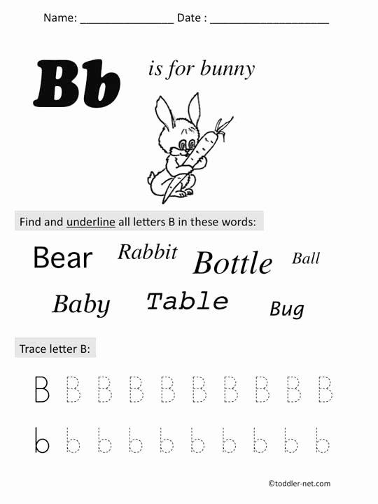 Letter I Worksheets for Preschoolers Beautiful Free Printable Letter B Preschool Worksheet