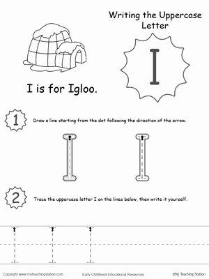 Letter I Worksheets for Preschoolers Lovely Worksheet isheets for Kindergarten Writing Uppercase