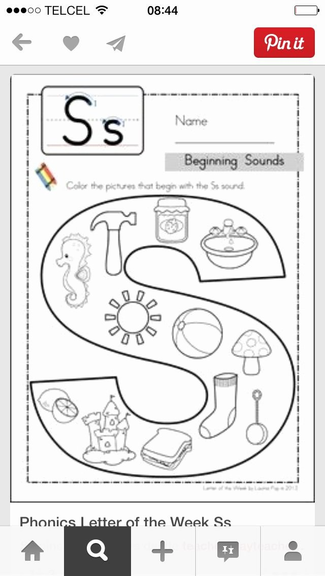 Letter I Worksheets for Preschoolers New Pin by Vicki Vaughan Wadsworth Escuela Phonics Preschool