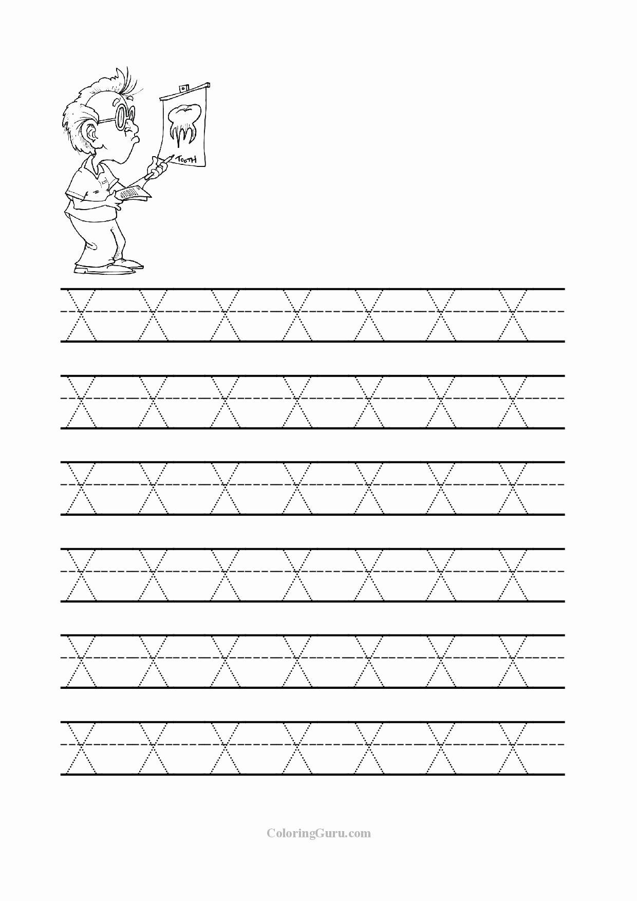 Letter I Worksheets for Preschoolers top Free Printable Tracing Letter X Worksheets for Preschool