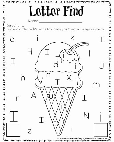 Letter I Worksheets for Preschoolers Unique Cute Letter Find Worksheets with A Freebie Planning Playtime