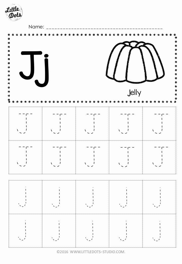 Letter J Worksheets for Preschoolers Inspirational Free Letter J Tracing Worksheets