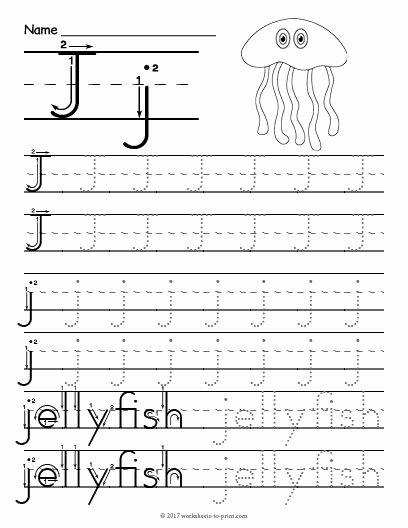 Letter J Worksheets for Preschoolers Inspirational Free Printable Tracing Letter J Worksheet
