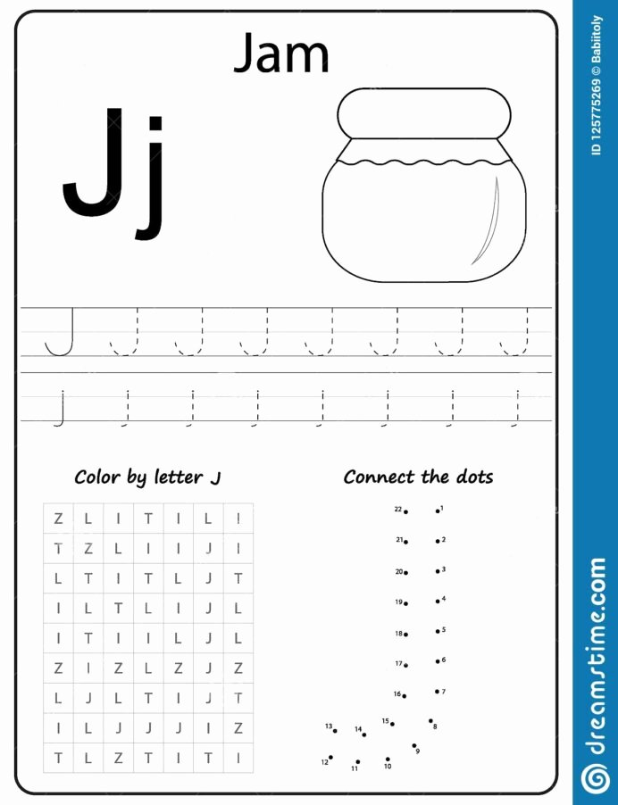 Letter J Worksheets for Preschoolers Inspirational Writing Letter Worksheet Alphabet Exercises Game for Kids
