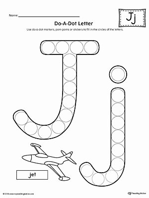Letter J Worksheets for Preschoolers Lovely Letter J Do A Dot Worksheet
