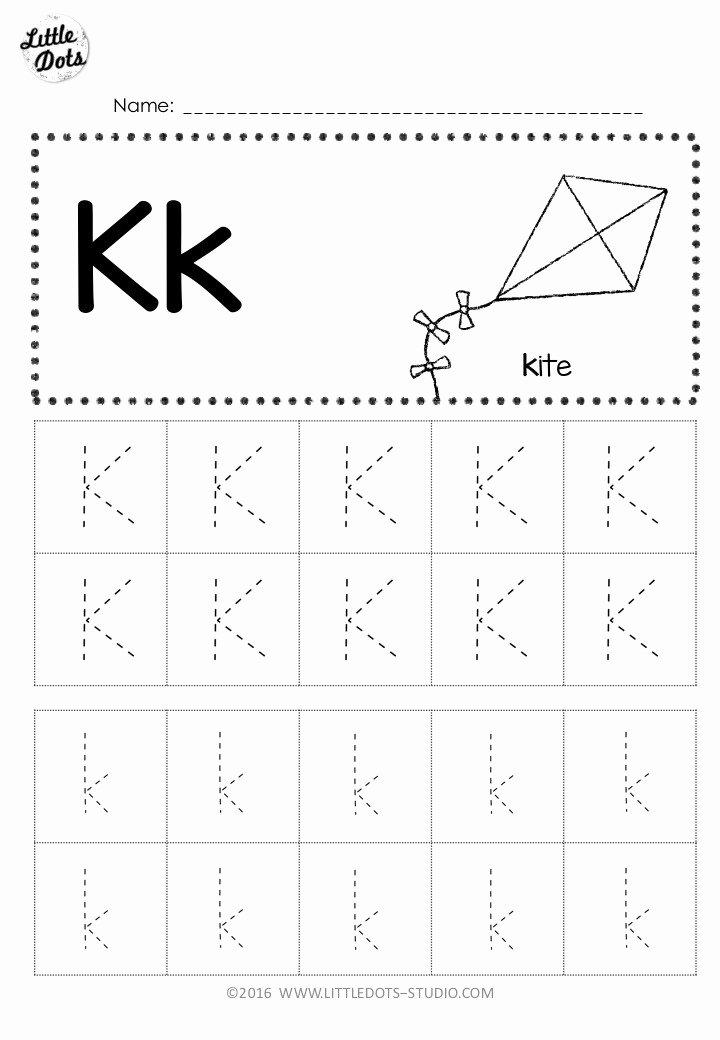 Letter K Worksheets for Preschoolers Awesome Free Letter K Tracing Worksheets