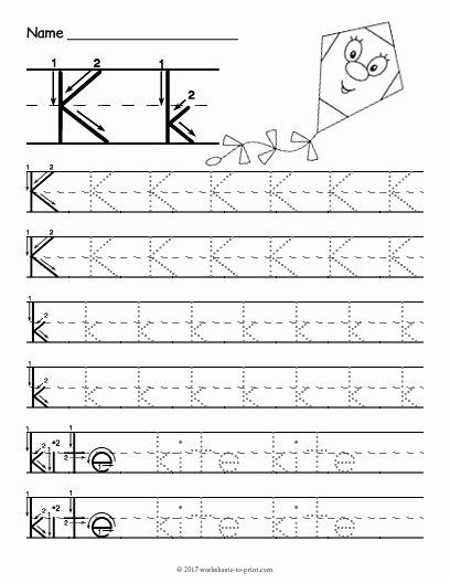 Letter K Worksheets for Preschoolers Awesome Free Printable Tracing Letter K Worksheet