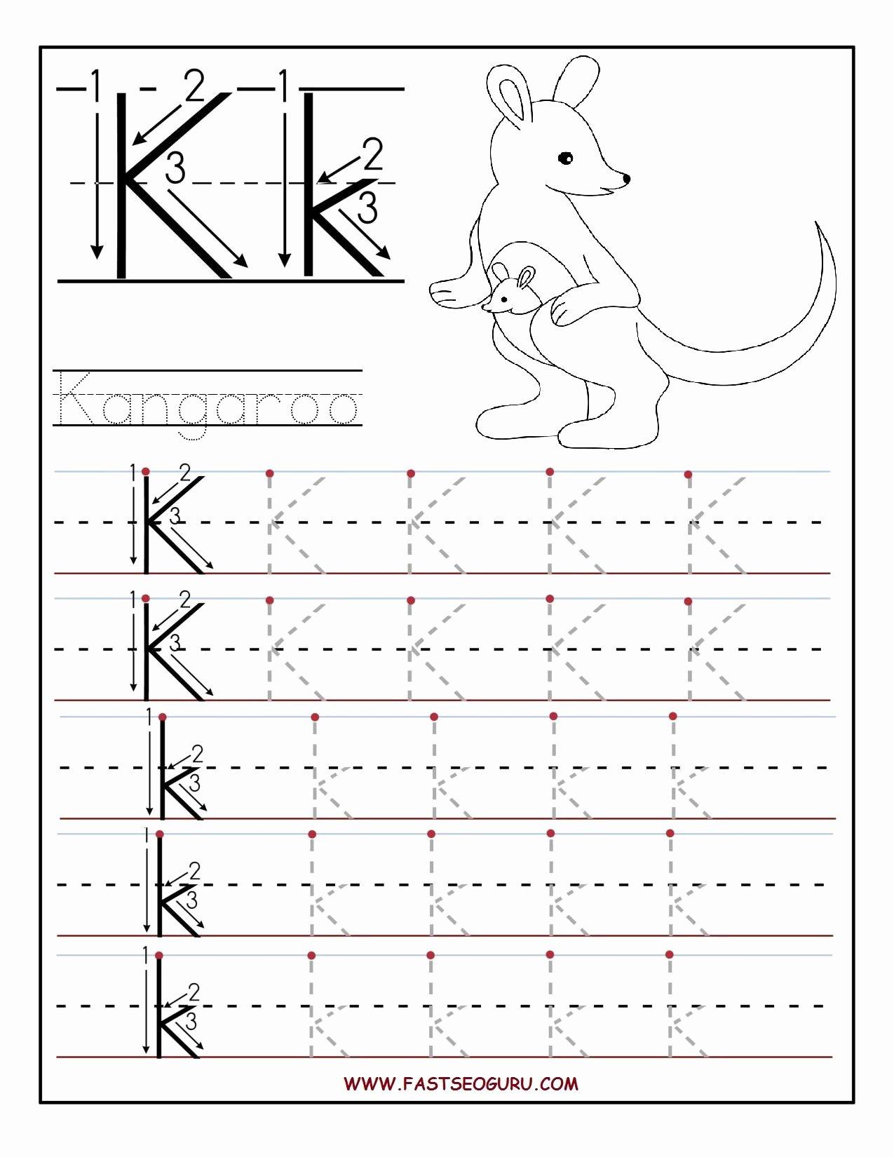 Letter K Worksheets for Preschoolers Unique Printable Letter K Tracing Worksheets for Preschool