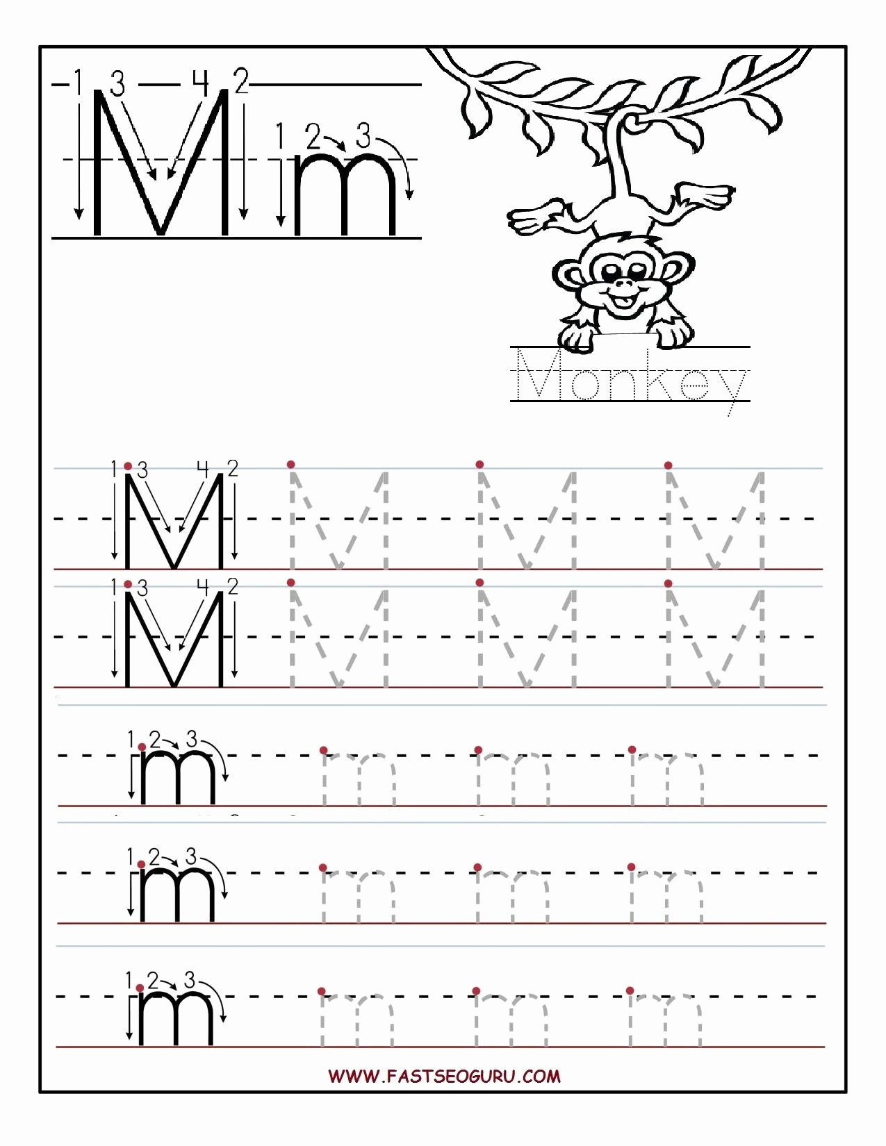 Letter M Worksheets for Preschoolers Beautiful Printable Letter M Tracing Worksheets for Preschool