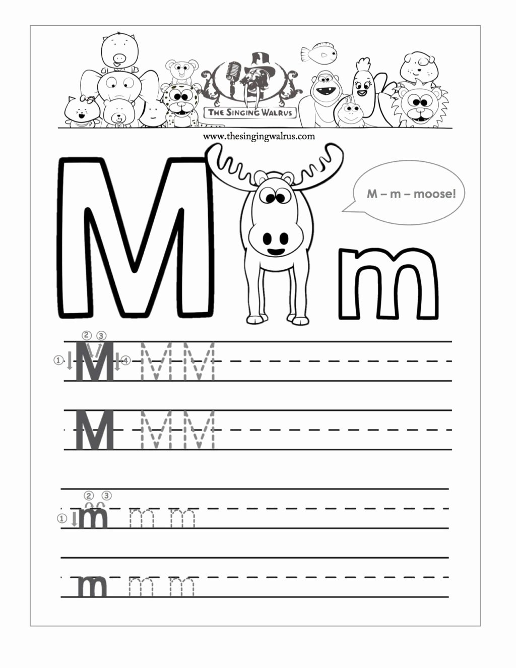 Letter M Worksheets for Preschoolers Inspirational Worksheet Worksheet Writing Practice for Kindergarten