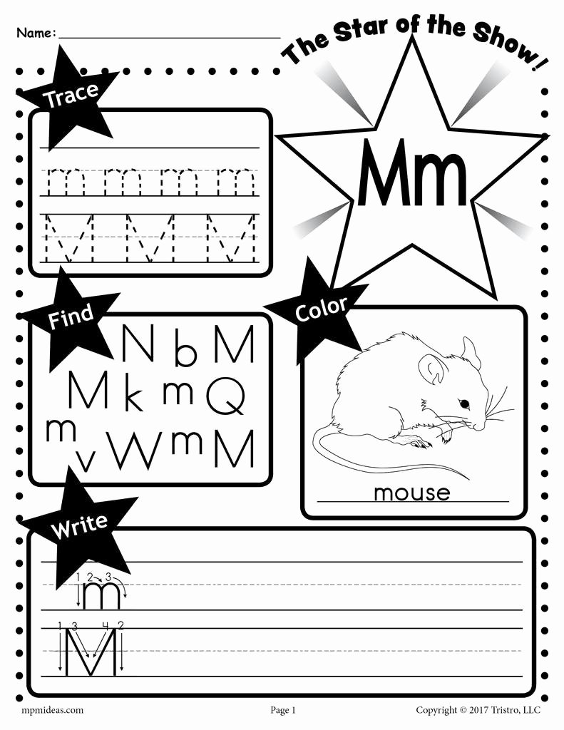 Letter M Worksheets for Preschoolers Lovely Letter M Worksheet Tracing Coloring Writing & More