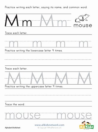 Letter M Worksheets for Preschoolers Unique Printing Letter M Worksheet