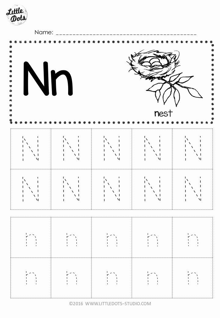 Letter N Worksheets for Preschoolers Lovely Free Letter N Tracing Worksheets