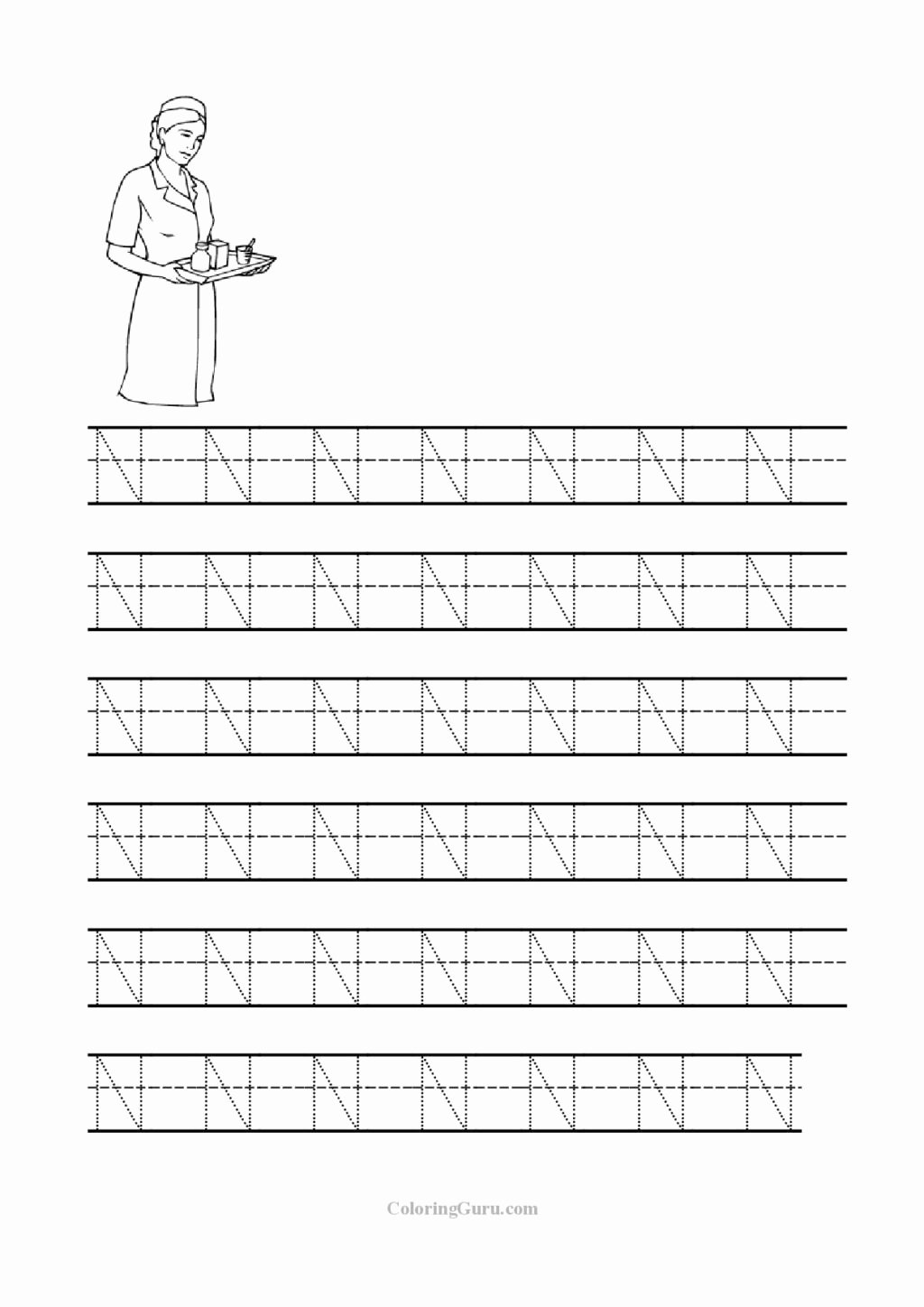 Letter N Worksheets for Preschoolers Unique Worksheet Worksheet Lettering Printables Free Printable