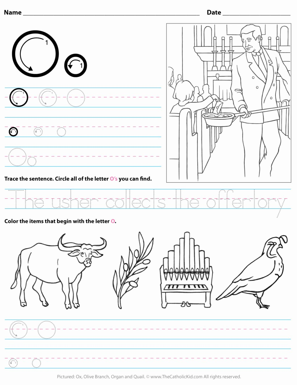 Letter O Worksheets for Preschoolers Fresh Worksheet Catholic Alphabet Letter O Worksheet Preschool
