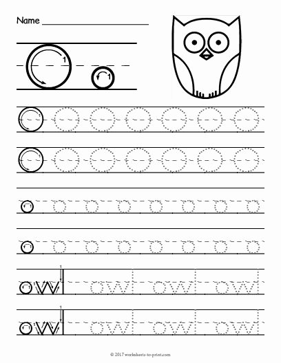 Letter O Worksheets for Preschoolers Inspirational Free Printable Tracing Letter O Worksheet
