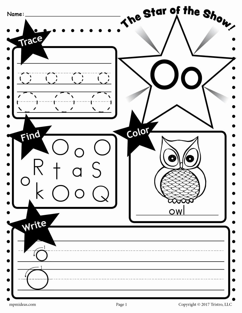 Letter O Worksheets for Preschoolers Inspirational Letter O Worksheet Tracing Coloring Writing & More