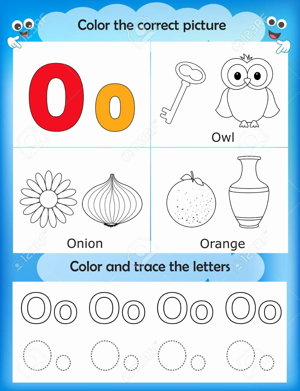 Letter O Worksheets for Preschoolers New Alphabet Learning Letters & Coloring Graphics Printable Worksheet