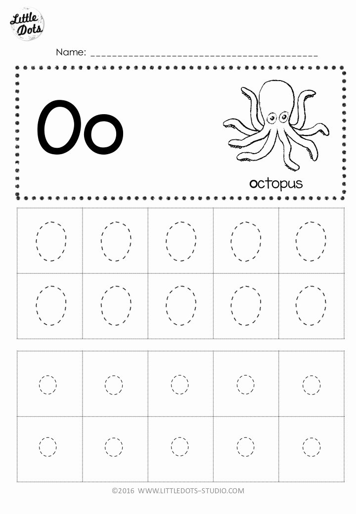 Letter O Worksheets for Preschoolers New Free Letter Oo Tracing Worksheets