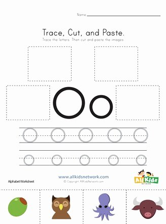 Letter O Worksheets for Preschoolers New Trace Cut and Paste Letter O Worksheet