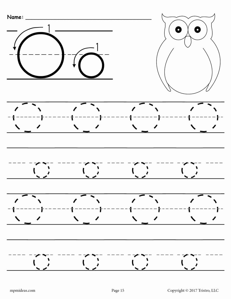 Letter O Worksheets for Preschoolers top Printable Letter O Tracing Worksheet