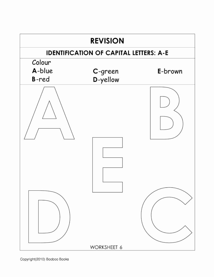Letter Recognition Worksheets for Preschoolers Best Of Kindergarten Alphabet Worksheets Preschool Pre Letter