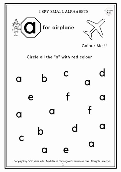 Letter Recognition Worksheets for Preschoolers New soe Store Kids Preschool Alphabets Activity Worksheets 26 Pages Age 2 4 Years
