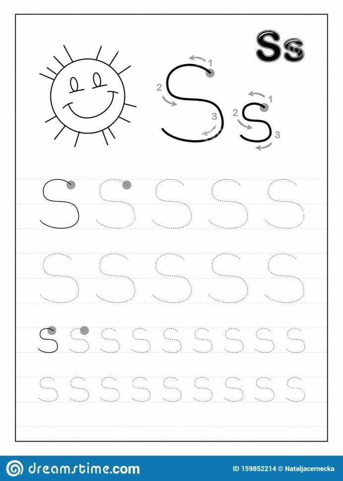 Letter S Worksheets for Preschoolers Best Of Tracing Alphabet Letter Black and Educational Worksheets