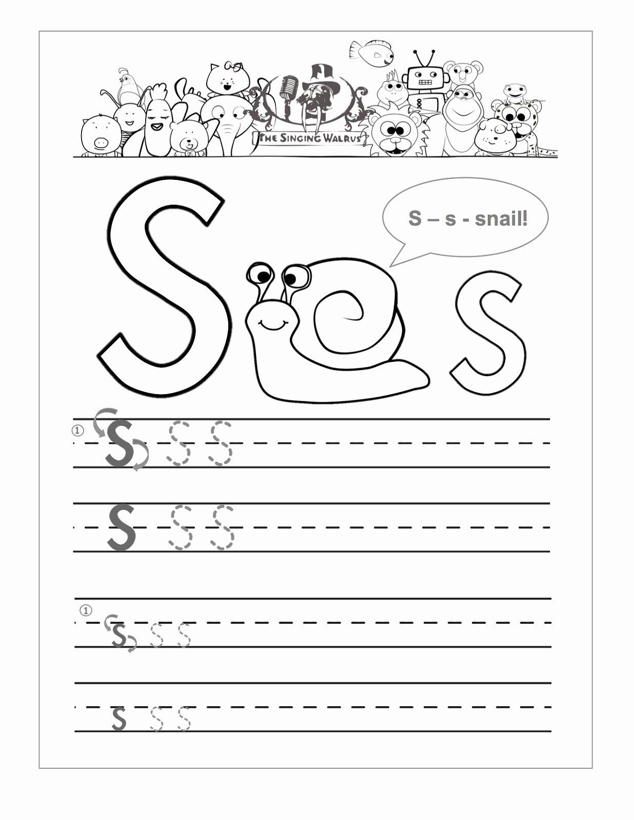 Letter S Worksheets for Preschoolers Inspirational Letter S Worksheets Printable