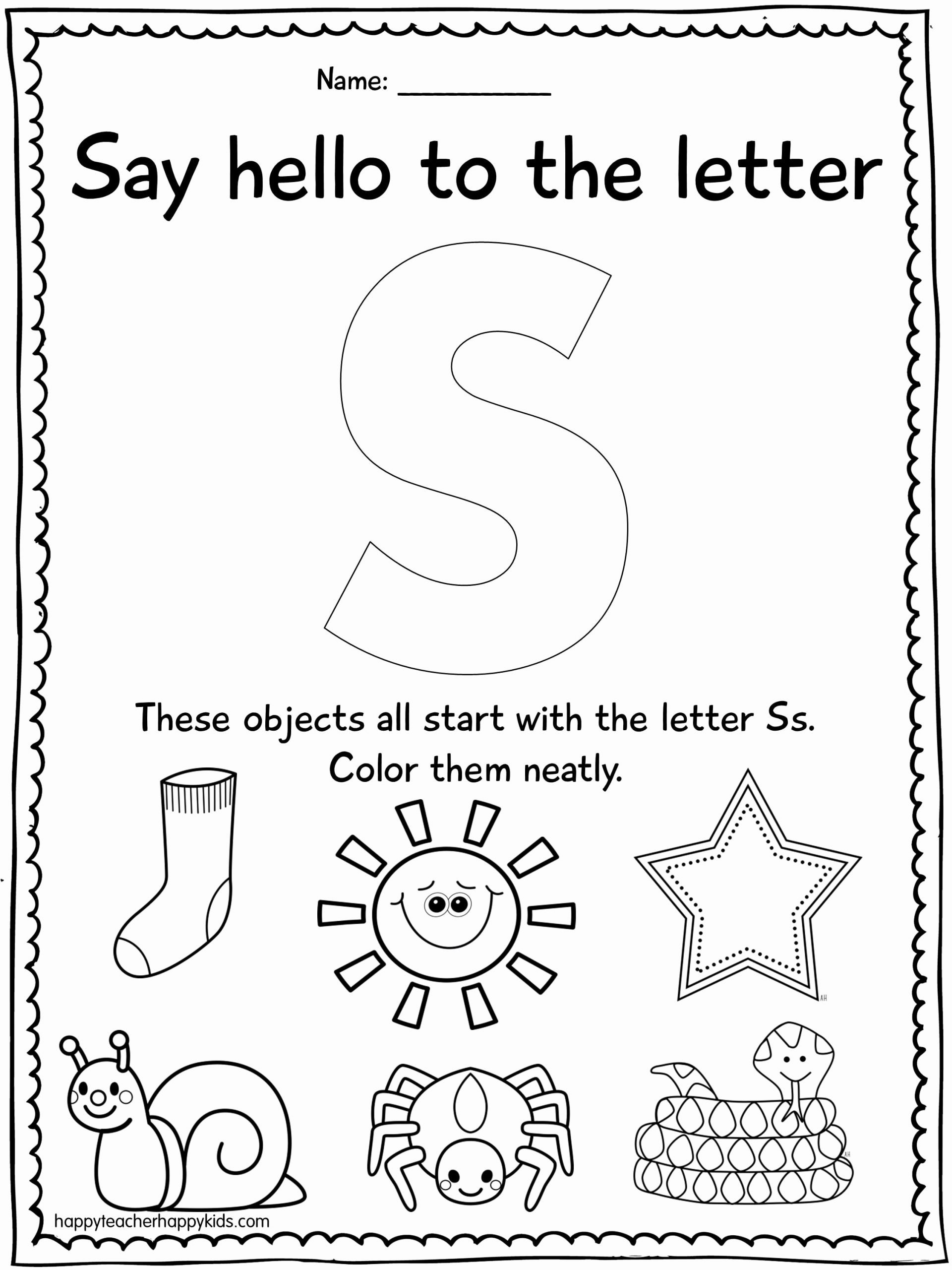 Letter S Worksheets for Preschoolers Unique Alphabet Activities for the Letter S Perfect for Preschool
