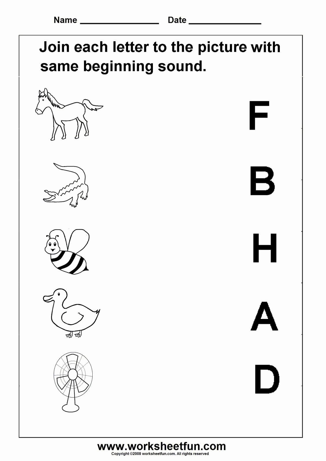 Letter sound Worksheets for Preschoolers Awesome A Letter sound Worksheets