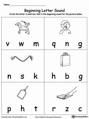 Letter sound Worksheets for Preschoolers Awesome Beginning Letter sound Ag Words