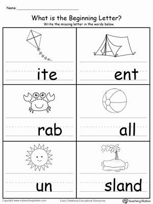 Letter sound Worksheets for Preschoolers Awesome Summer Beginning Letter sound
