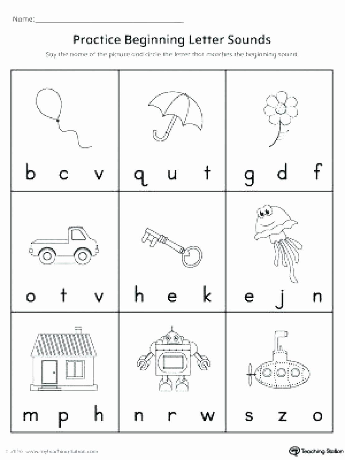 Letter sound Worksheets for Preschoolers Beautiful Letter sound Worksheets for Free Download Letter sound
