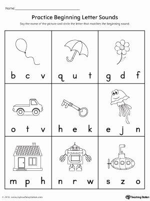 Letter sound Worksheets for Preschoolers Inspirational Practice Beginning Letter sound Worksheet