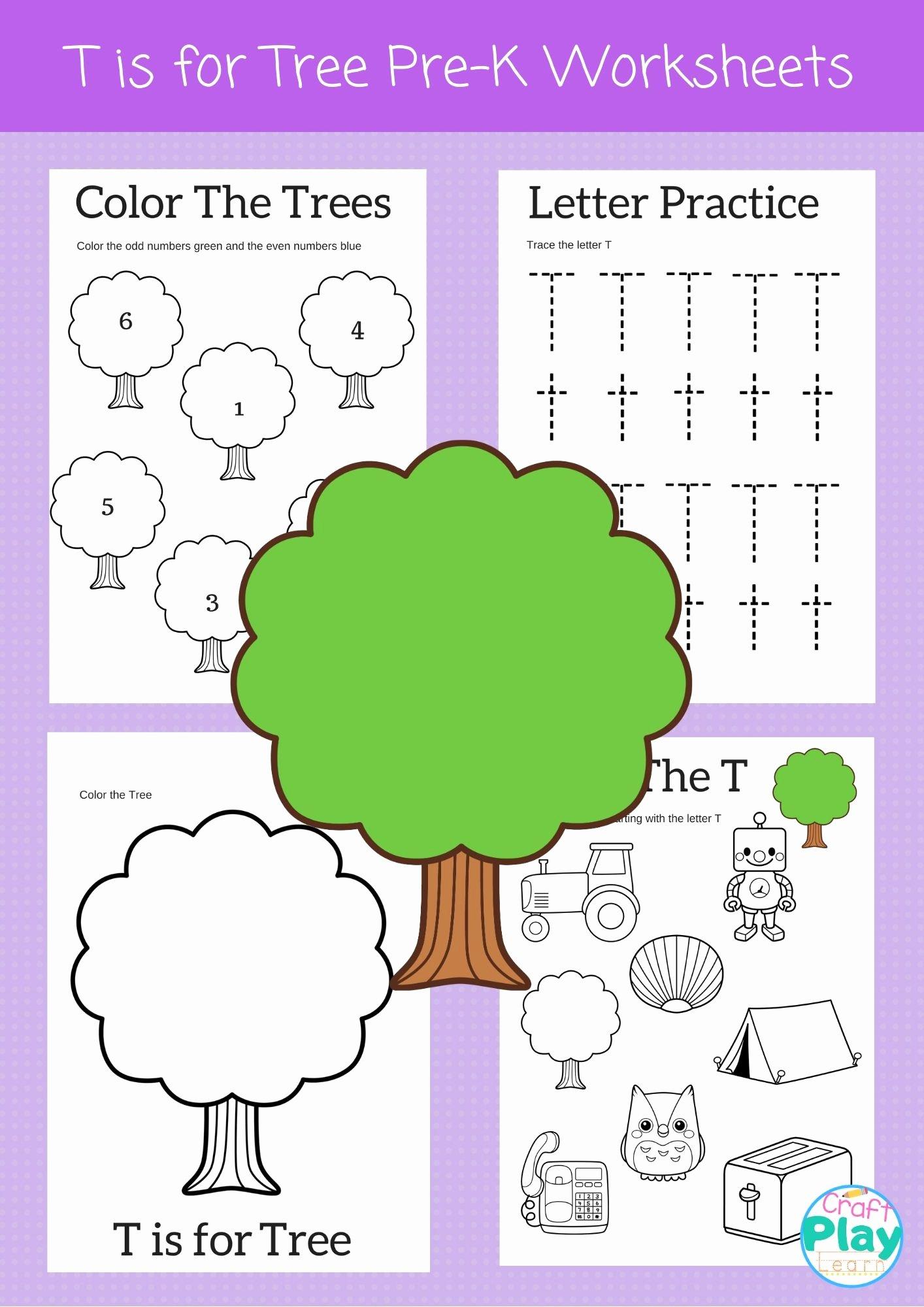 Letter T Worksheets for Preschoolers Beautiful Letter T Worksheets for Preschool Kids Craft Play Learn