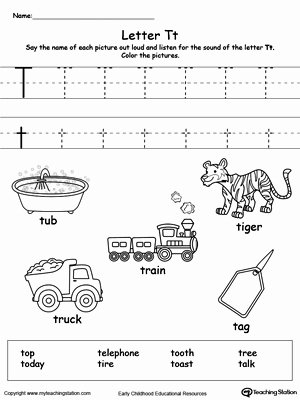 Letter T Worksheets for Preschoolers Best Of Words Starting with Letter T